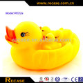 Promotional yellow floating rubber duck baby bath duck toy