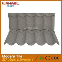 Modern Type Lightweight Anti Earthquake Galvalume Sand Coated Fiber Cement Corrugated Roofing Sheet