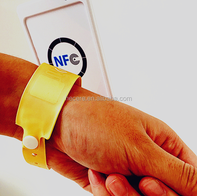 Disposable Medical Grade nfc Paper RFID wristband for patient identification
