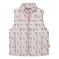 Kids Girls' Polyester Printed Stylish Quilted Padding Vest