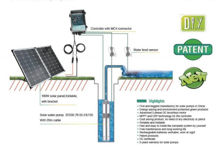 Hot selling DC home solar water pumping system for domestic use