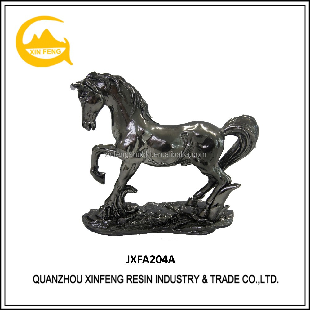 Resin Animal Sculpture Desktop Chinese Horse SculptureHome Decoration