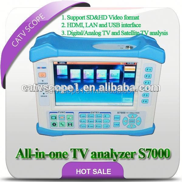 All-in-1 TV analyzer S7000 suitable for Analog, DVB-S/S2/T/T2/C and TS analysis