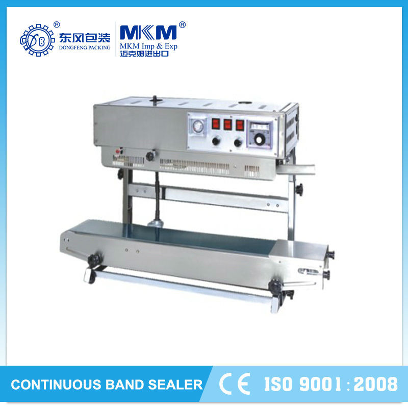 new sealing solid ink date printing and continous band sealer frd-1000 with conveyor DBF-770W