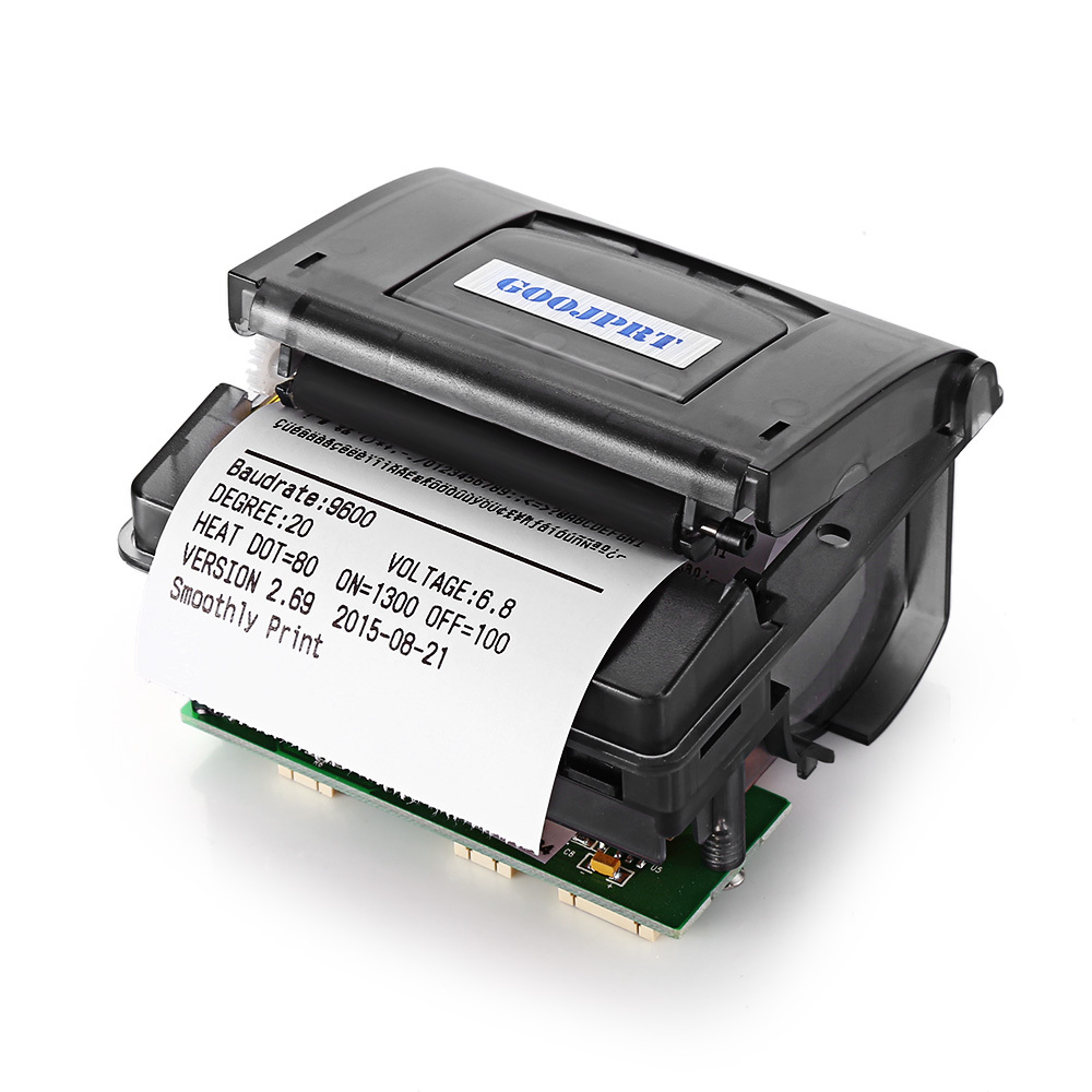 High speed 58mm Mini Embedded Thermal panel printer RS232 for taximeter