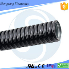Steel Material Steel Conduit Corrugated Metal Tubing Electrical Equipment Cable Management Metal Pipe Black PVC Pipe