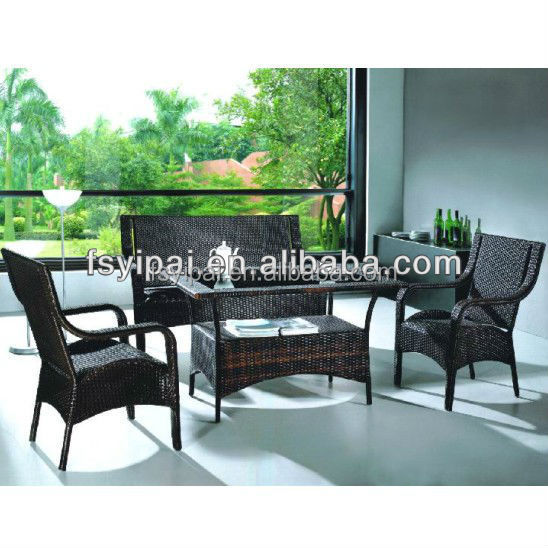 rattan living room furniture set tea table and chairs