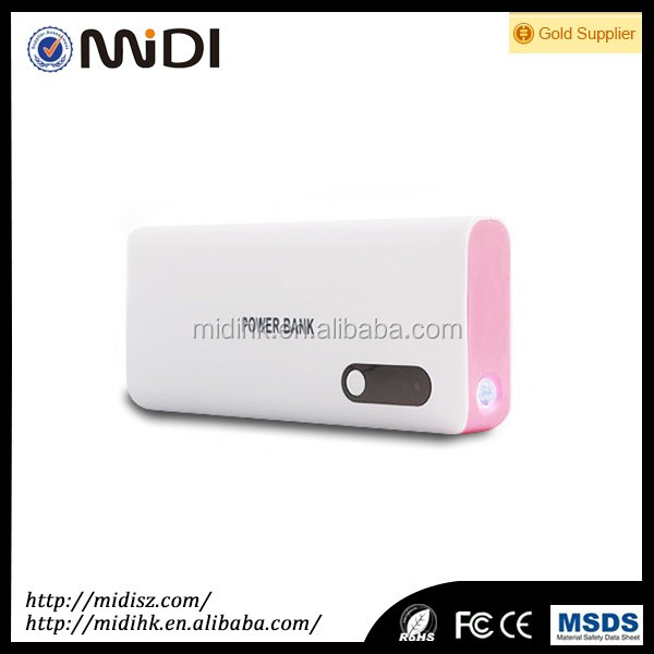Promotional mobile power bank with 10000mAh capacity and competitive electronics gift