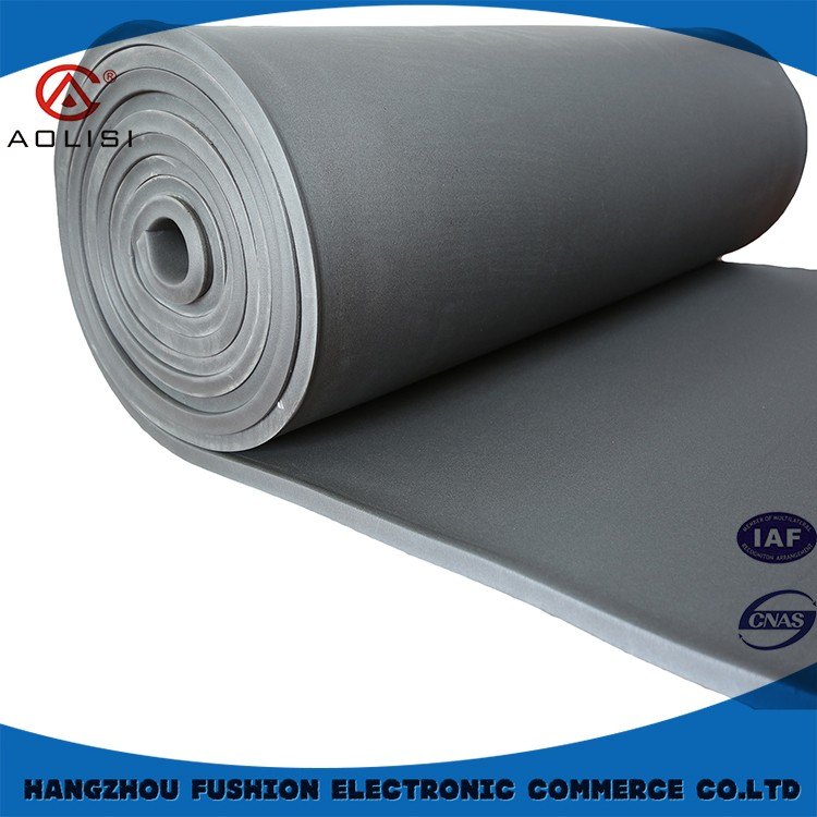 Building insulation materials,flexible fireproof rubber foam thermal insulation sheet