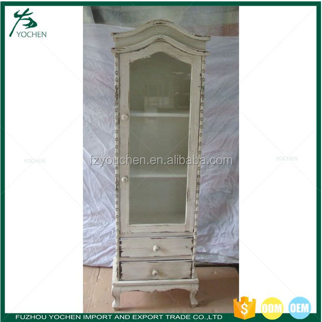 2 door glass display cabinetyuanwenjun shabby chic wooden display cabinet 2 glass door showcase planetlyrics Image collections