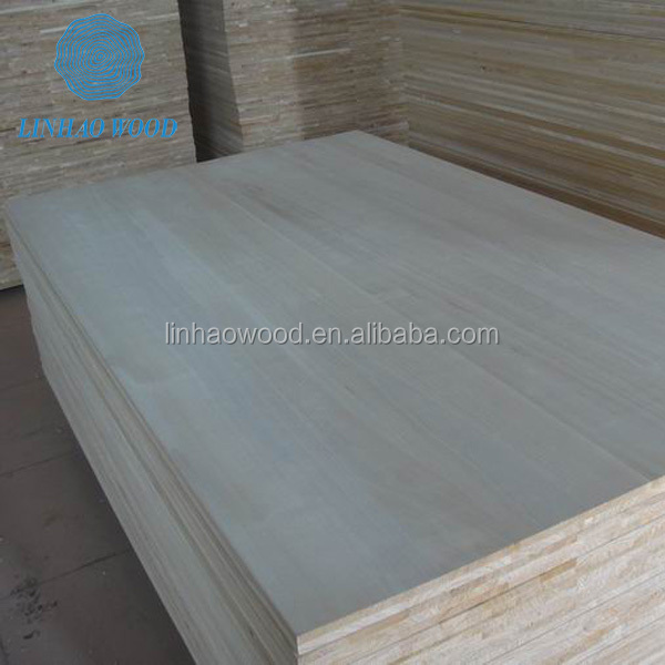 Factory Direct Supply Edge Glued Finger Jointed Paulownia Solid Wood Boards , paulownia scaffolding plank