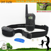 Battery Operated LCD Display 100 Levels Shock Vibrate Remote Dog Training Collar