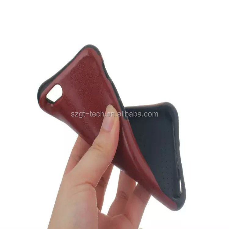 2017 Hot Products Shockproof Gasbag Corners Design Leather Smart phone Case for iphone 6 6s plus