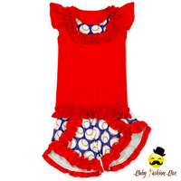 66TQZ493 Yihong Wholesale red baceball outfit of baby boy &girl baby outfit summer unisex newborn baby clothing