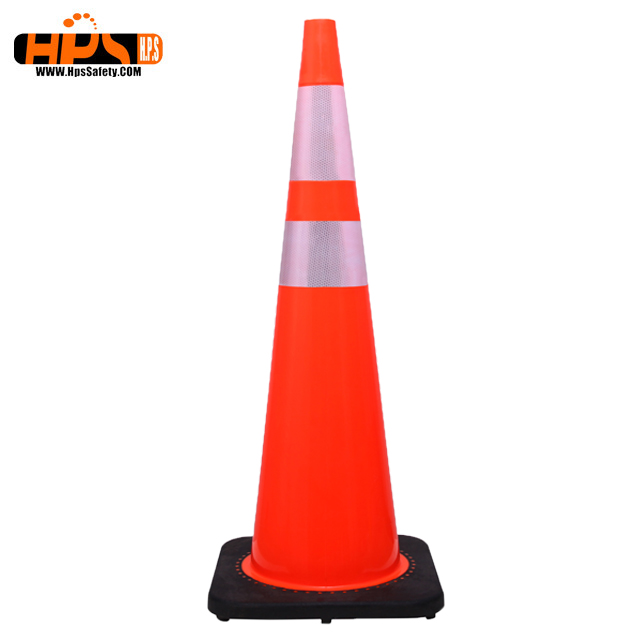 900mm roadway safety reflective PVC traffic cones for global market