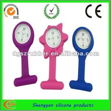 Pin design waterproof cheap silicone nurse watch