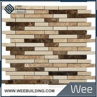 MC048C-P Stone Line Cutting and Marble Arabic Mosaic Tile