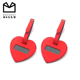 China fashion design wholesale high quality heart shaped luggage tags