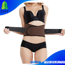 Thermal lower back spine pain relief back brace pad