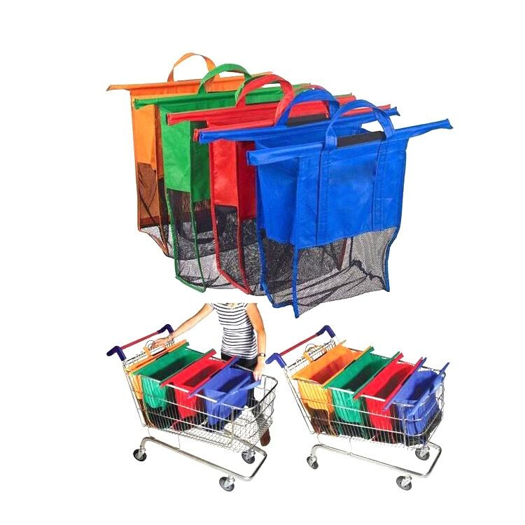 Non-woven trolley shopping bag for supermarket foldable