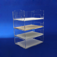 Clear acrylic document tray letter tray Office File Document Paper Holder Organizer