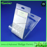 Hot selling Customized plastic PVC PET clamshell phone case blister packaging