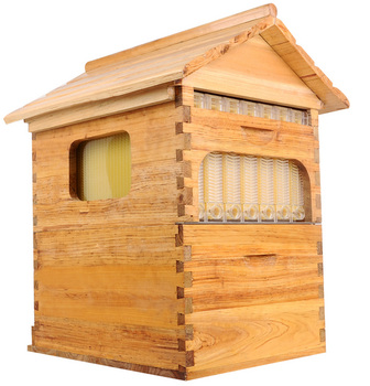Flow hive factory China supplier supply directly wooden automatic flowing bee hive kit auto beehive flow