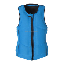 Wholesale professional neoprene printing custom neoprene portable life jacket fishing life jacket Rafting vest