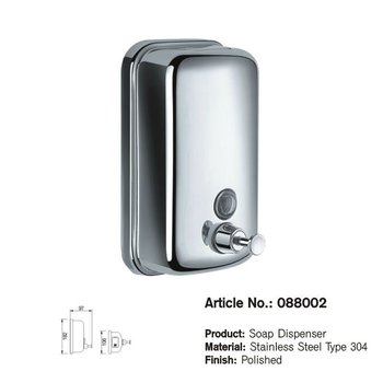Stainless Steel Type 304 Bathroom Accessories Soap Dispenser 088002