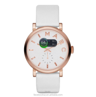 MBM1283 Baker Rose Gold Tone White Dial White Leather Watch mbm watch
