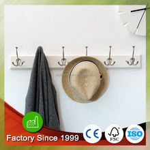 Decoration Wall Hooks bamboo wall mounted clothing display rack 4 to 8 hooks