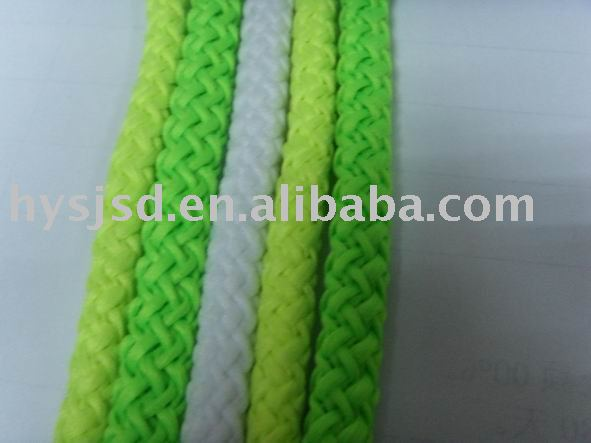 soft and useful braided white polyester rope