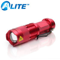 3W 800LM OEM 1*AA Battery Led Torch Flashlight Portable Aluminium Mini Led Rechargeable Flashlight