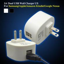 3.1A 15W Dual USB Travel mobile Wall Charger AC Power Adapter for Apple and Android Phones and Tablets: Apple iPad Air, iPad 2
