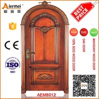 stylish design door interior solid oak wood arch shaped door