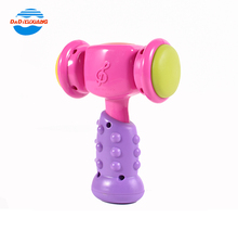 Exquisite pink kids play plastic hammer toy for party