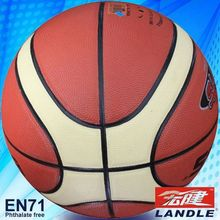 High quality 12 panles PU basketball name brand leather basketball