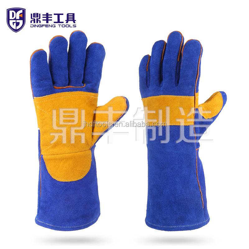14 inches TIG MIG welding leather <strong>gloves</strong>
