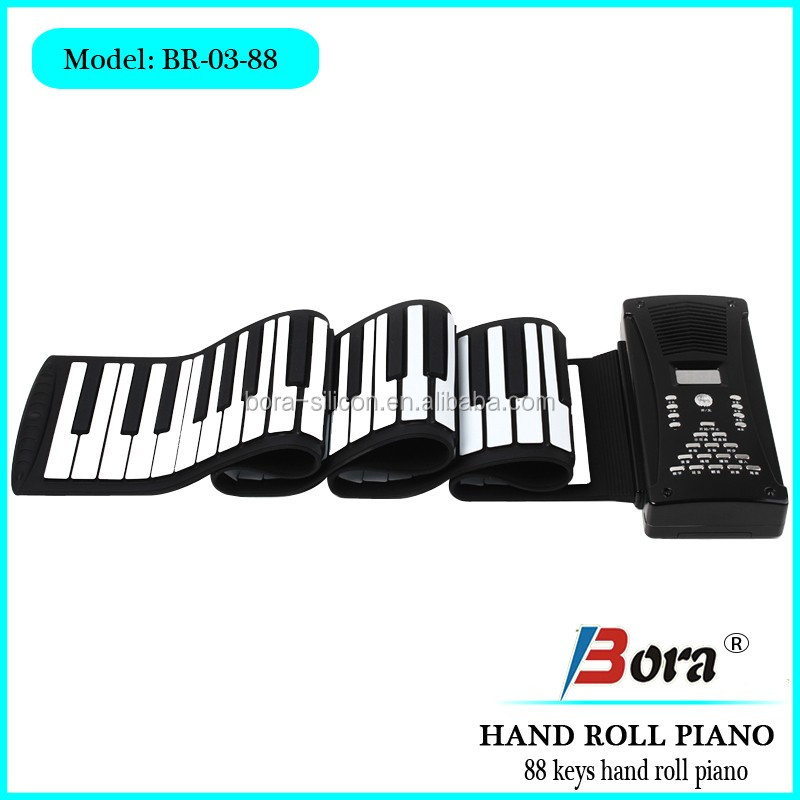 electronic piano keyboard with MIDI 88 keys roll up piano