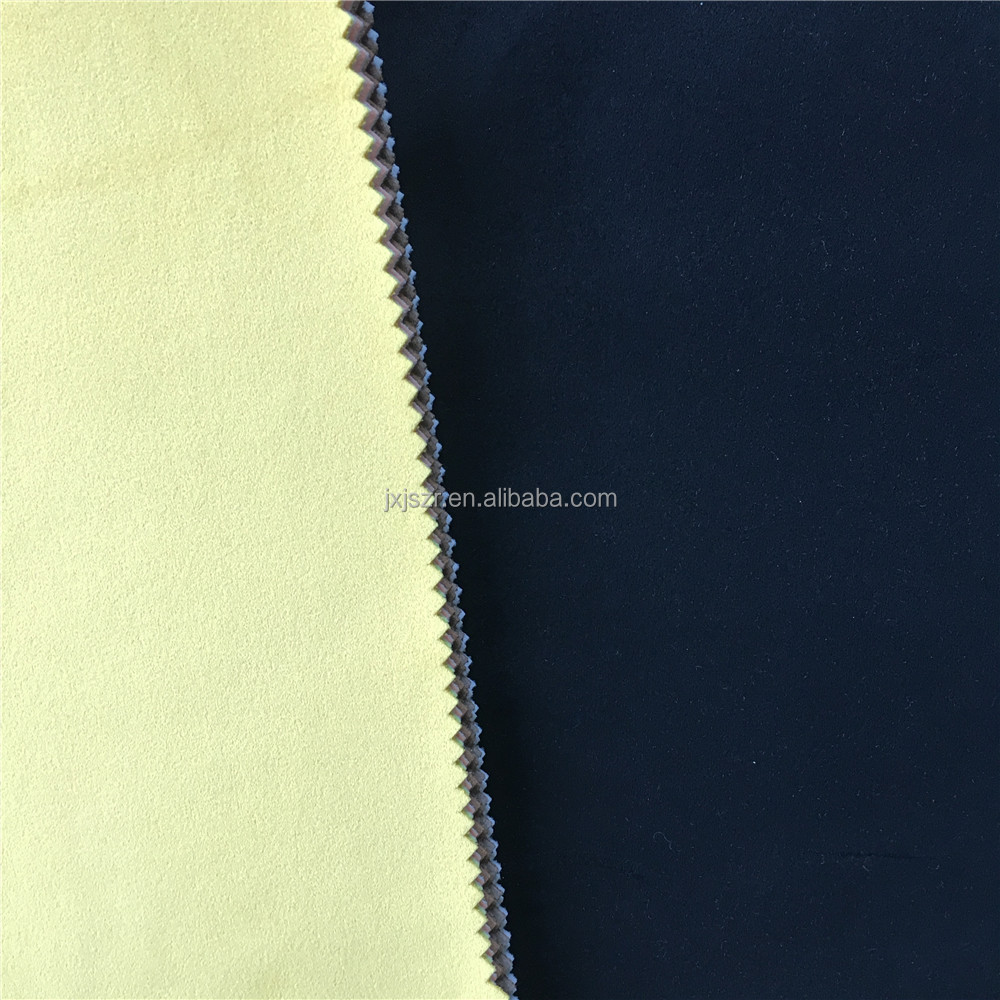 100% poly super quality microfiber flocked fabric