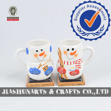 Snowman Hand-Painted Ceramic Coffee Cup& Mugs Printing