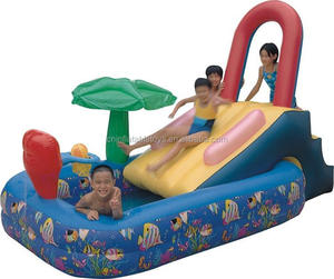 Factory inflatable plam tree swimming pool for kids play diffe