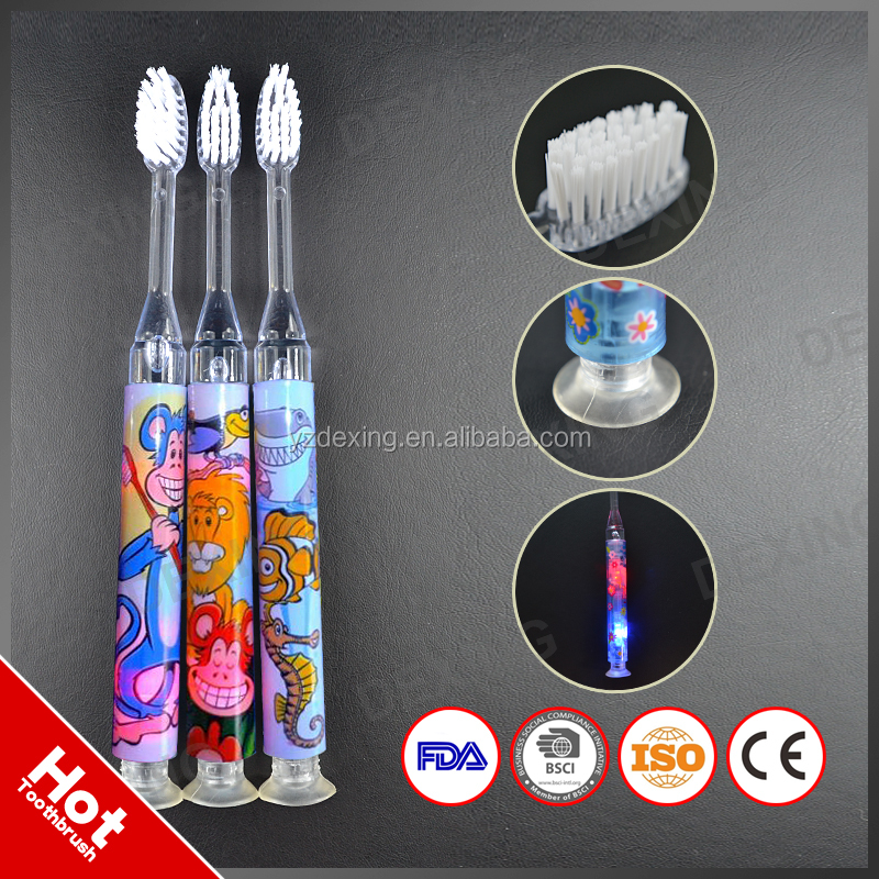 2016 Popular Flash Toothbrush For Kids,Stand Up Toothbrush With LED Light
