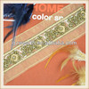 Hot sale custom made gold beaded embroidery lace trim for dresses decoration
