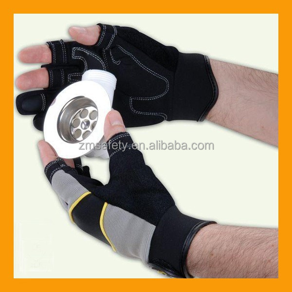 Quality DIY Home Improvement Mechanics Safety Work Two Finger Protection Glove