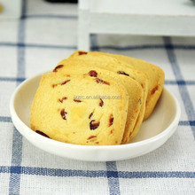 wholesale nice taste butter cranberry cookies/biscuit