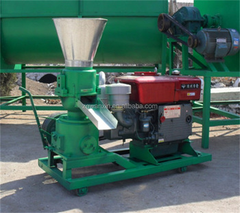 Poultry feed pellet mill 1ton/h chicken feed making machine