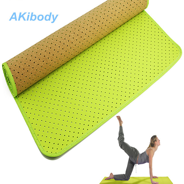 AKibody TPE Punching Yoga Mat with Carrying Strap for Yoga,Pilates, Exercise and Workouts