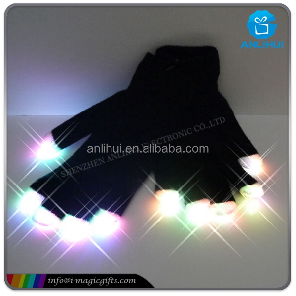 led lighting top luminous flashing gloves for wedding party festival