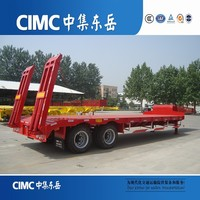 CIMC Low Bed Semi Trailer with Air Bag Suspension